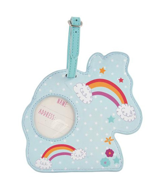 Childrens Unicorn chunky luggage tag-5509