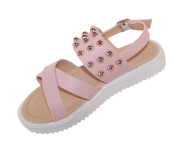 Girls pink fashion summer sandals-5491