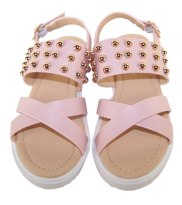 Girls pink fashion summer sandals-5489