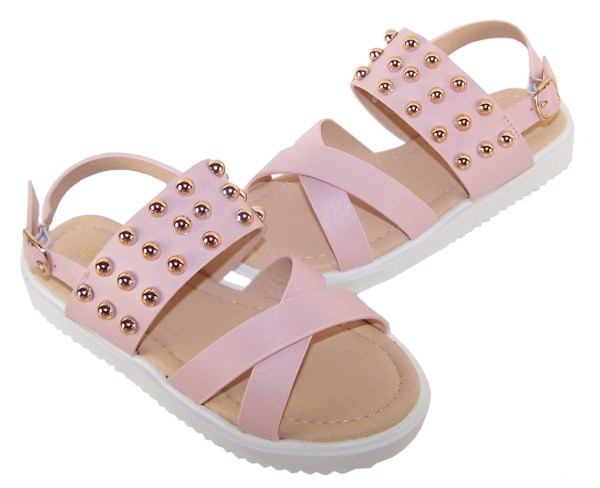 Girls pink fashion summer sandals-5490