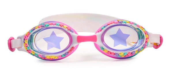 Girls multi colour traditional shaped stars fun swimming goggles-5818