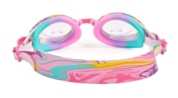Girls multi colour traditional shaped stars fun swimming goggles-5816