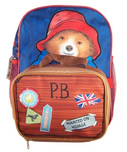 Paddington Bear blue back pack with detachable lunch bag