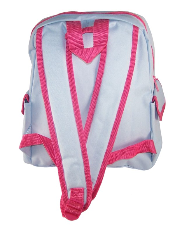 Childs Peter Rabbit Lily pale blue and pink satchel backpack -5891