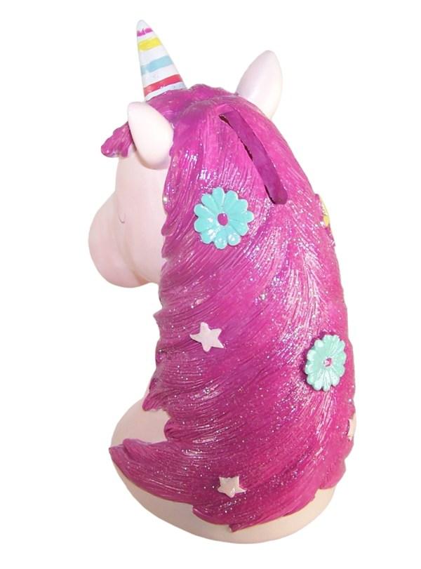 Childrens pink Unicorn money bank-6085