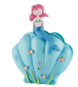 Childrens blue Mermaid money bank