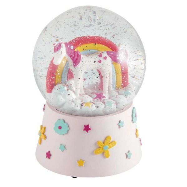 Childrens Unicorn musical snow globe-0