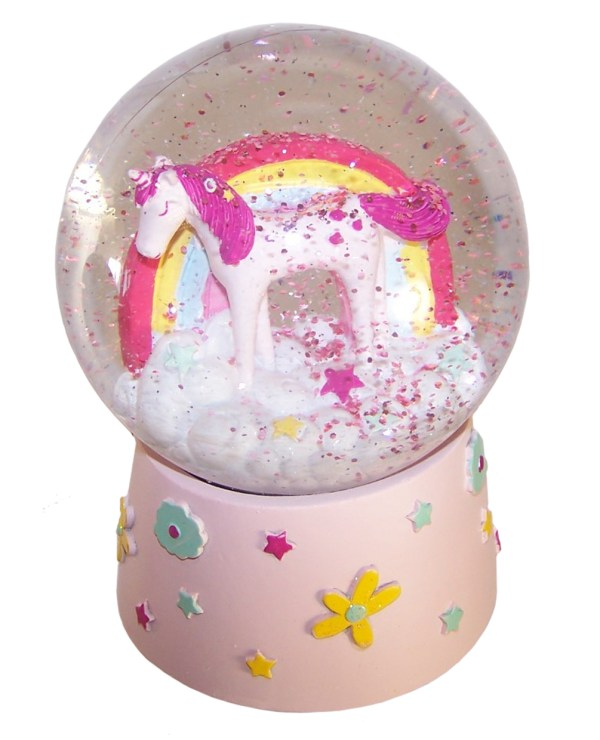 Childrens Unicorn musical snow globe-6095