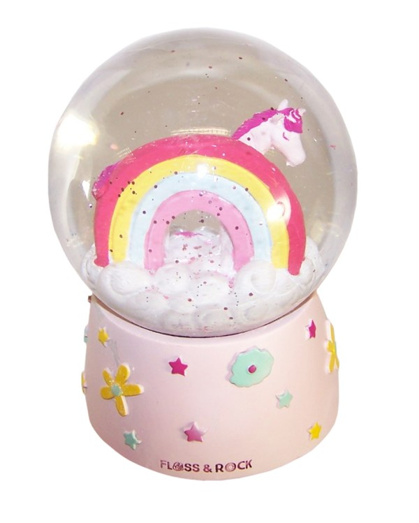 Childrens Unicorn musical snow globe-6093