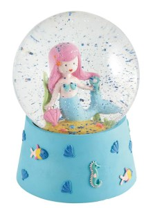 Childrens Mermaid musical snow globe
