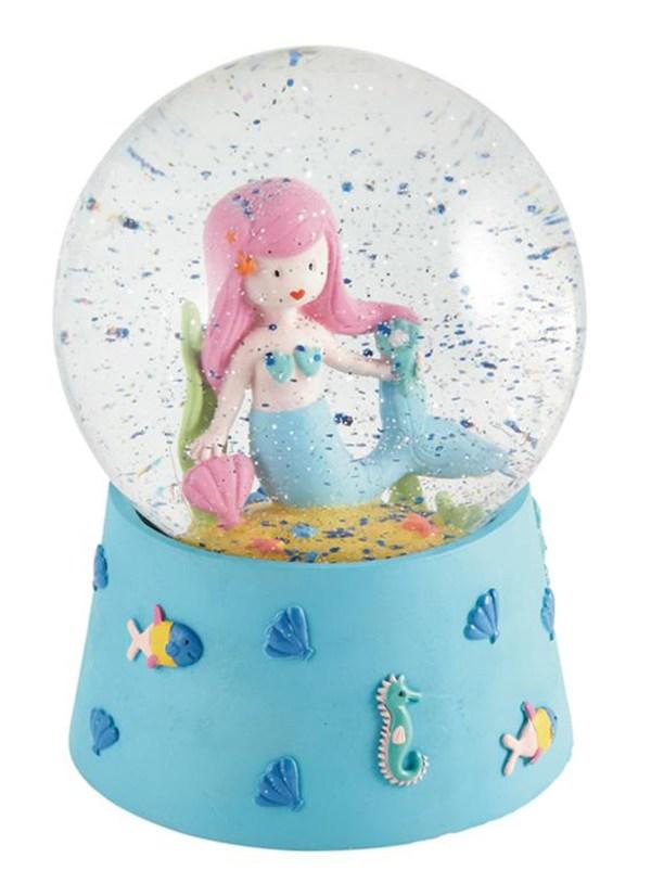 Childrens Mermaid musical snow globe-0