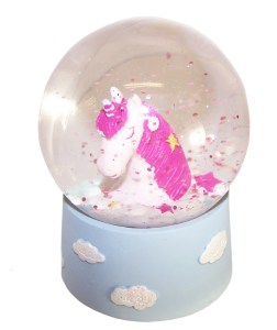 Childrens mini Unicorn snow globe