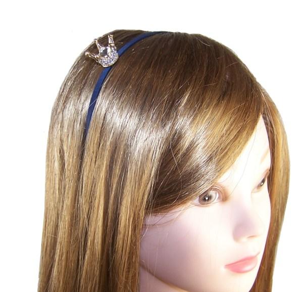 Girls dark blue velvet ballerina party shoes - Gift Set-6182