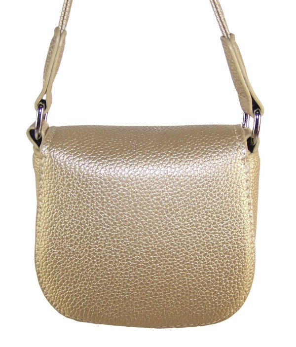 Girls gold sparkly handbag with sequin butterfly-6216