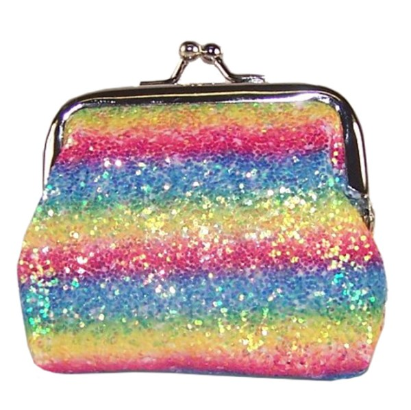 Girls sparkly rainbow glitter purse-0