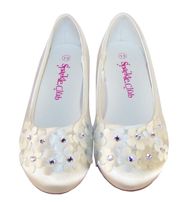 Ivory satin flower girl and bridesmaid ballerina shoes-6266