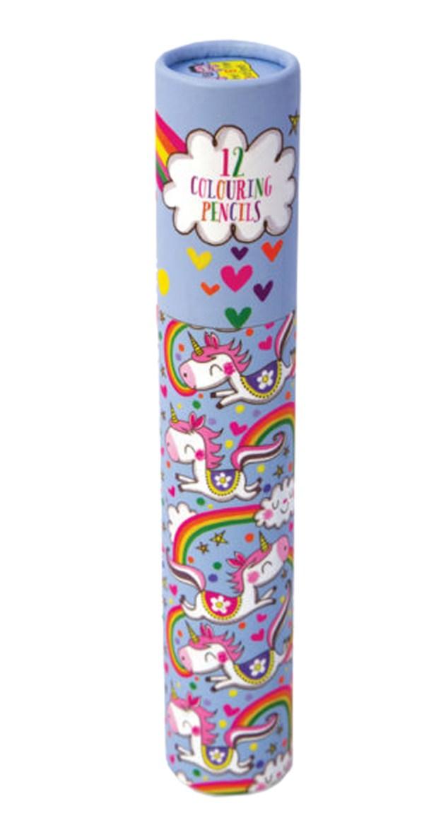 Unicorn colouring pencil set-0