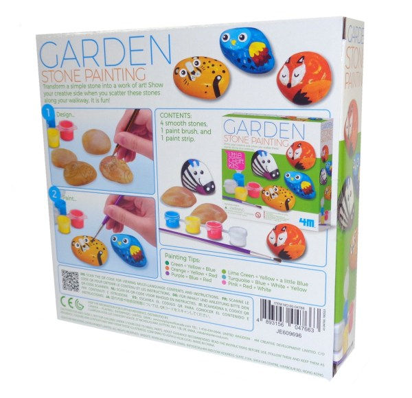 Childs garden stone painting craft kit-6571