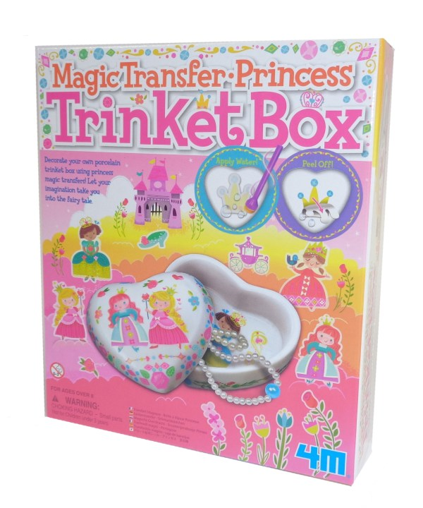 Childs magic transfer princess trinket box craft kit-0