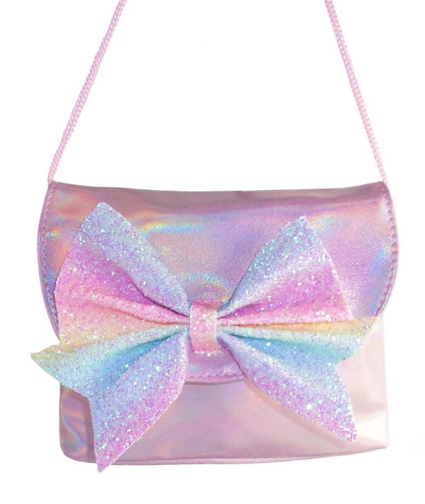 Childrens pink sparkly handbag-6527
