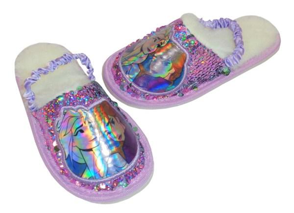 Frozen purple sequin slippers