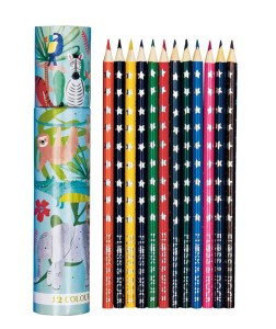 Jungle theme colouring pencil set