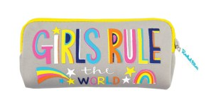 Colourful 'Girls Rule'  pencil case