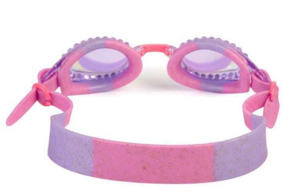 Purple swimming goggles back