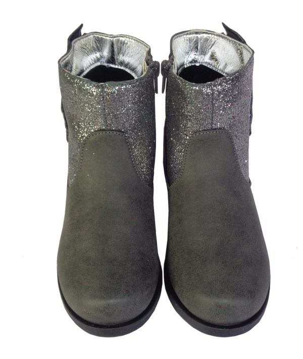 Girls Sparkly Grey Boots