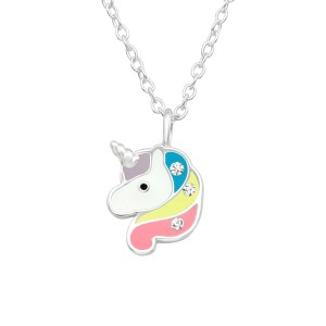 Girls Unicorn 925 Sterling Silver Necklace
