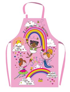 Childrens PVC coated pink fairy design apron
