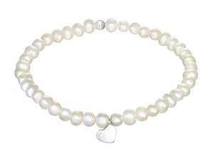 Girls 925 sterling silver and fresh water pearl bracelet