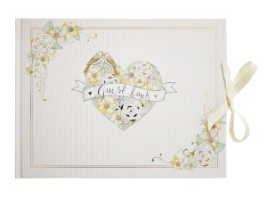 Wedding ivory and gold guest book