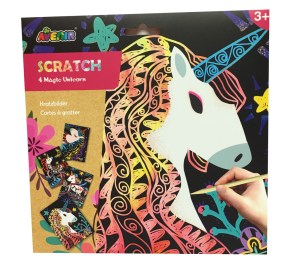 Childrens Unicorn magical scratch boards