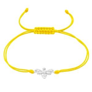 Girls Bee 925 Sterling Silver Nylon Cord Bracelets
