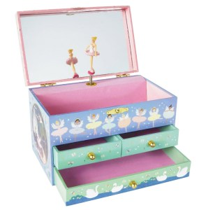 Enchanted Musical Jewellery Box with 3 Drawers