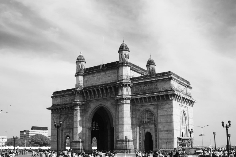 Black and White Photo of Gateway of India