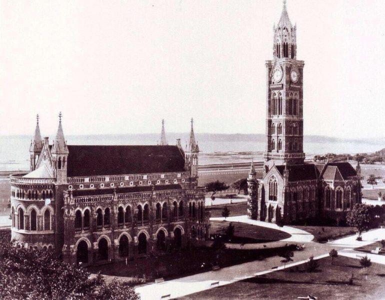 Black and White Photo of University of Mumbai, Fort