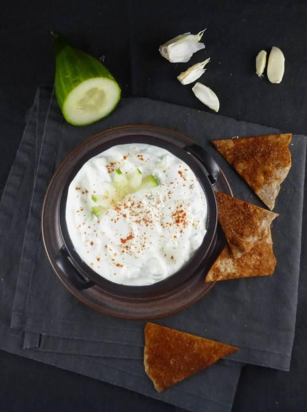 Tzatziki Dip (Greek Yoghurt, Garlic & Cucumber)