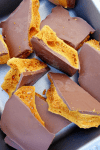 Chocolate Honeycomb (also known as Cinder Toffee)