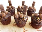 Overloaded Chocolate Spelt Cupcakes with Chocolate Cream Cheese Frosting