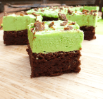 St Patrick's Day Chocolate Spelt Brownies