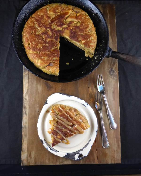 picture of eggy bread in a skillet