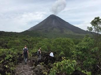 Walking the lava flow
