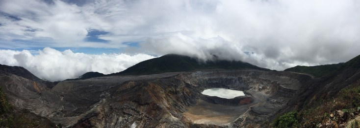 Panorama of the crater