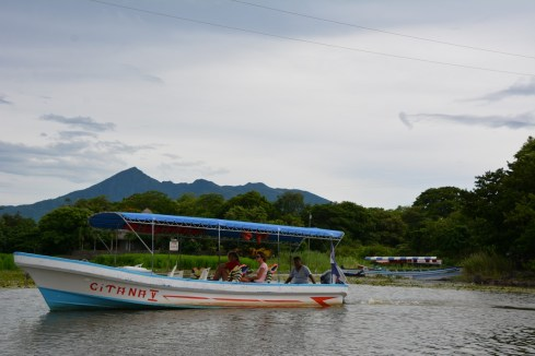 Volcano Mombacho from the lake