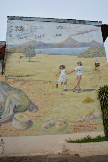 Mural in the main square