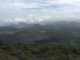 View of the lava flows