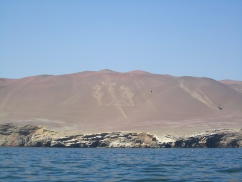The Paracas Candelabrum seen from the ocean
