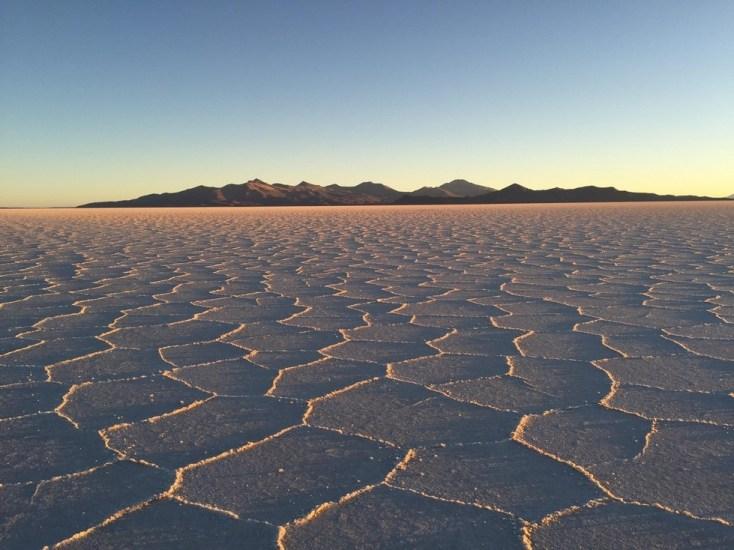Sprawling salt flats